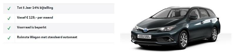 Toyota Auris TS voordelen Van ekris