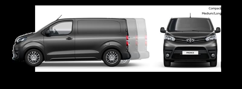 Toyota ProAce compact maten Van Ekris